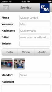 iOS Simulator Bildschirmfoto teka3