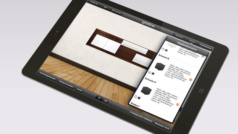 iPad App Warenkorb per Mail anfordern